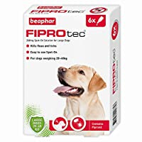 Beaphar Fiprotec Spot On Large Dog, 6 Pipettes Beaphar FIPROtec Spot-On for Large Dogs kills fleas and ticks on large dogs, and continues to kill fleas for up to five weeks and ticks for up to four weeks. Suitable for dogs over 8 weeks of age and wei...