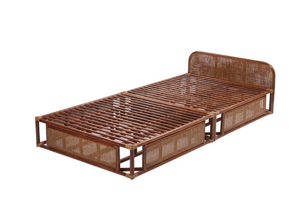 サンフラワーラタン ベッドフレーム ブラウン シングル 床面高24cm B400HR