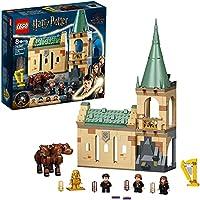 LEGO 76387 Harry Potter Zweinstein™: Pluizige Ontmoeting Kasteel Speelgoed, Set met 3-Hoofdige Hond Figuur & 3 Poppetjes