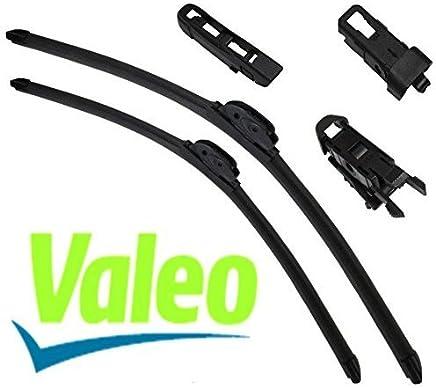 VALEO: Juego de 2 escobillas de limpiaparabrisas planos con rascadores 65/65cm