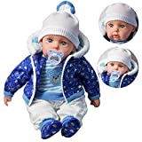 20' Lifelike Large Size Soft Bodied Bibi Baby Doll Girls Boys Toy With Dummy & Sounds (Blue)