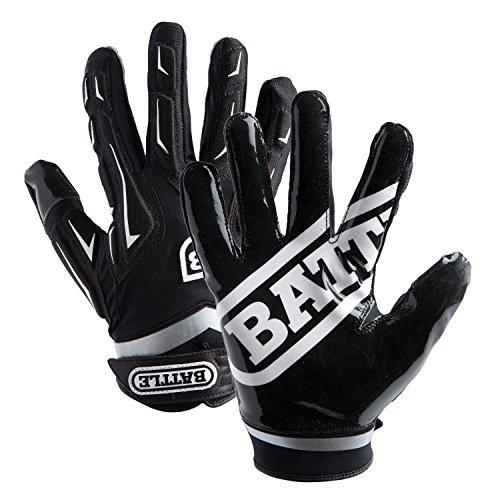 Battle Adult Hybrid Gloves, Black, Small