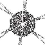 CLEARNICE Best Friends Colgante Collar Mujeres Hombres Empalme Geometría Pizza Amor Corazón Collares Moda Pareja BFF Amistad Joyería Longitud 50Cm