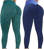 Hipeya Honeycomb Leggings Yogahose Damen Fashion High Waist Fitnesshose Sexy Bauchkontrolle Sport Hosen Slim Hip Lifting Strumpfhosen Bequem Atmungsaktiv Streetwear Hose für Laufen Training Pilates