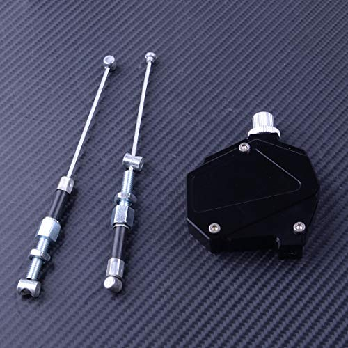 IOUVS 1set Schwarz CNC-Universal-Kupplung Booster Easy Pull-Kabelsystem Motorrad...