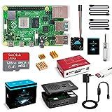 LABISTAS Raspberry Pi 4 8GB Kit Incluido Tarjeta SD 128GB Precargada con Raspberry Pi OS, Ventilador, 3 Disipadores de Calor, 5.1V 3A Tipo C con ON/Off, 2 Micro HDMI, Caja y Lector de Tarjetas