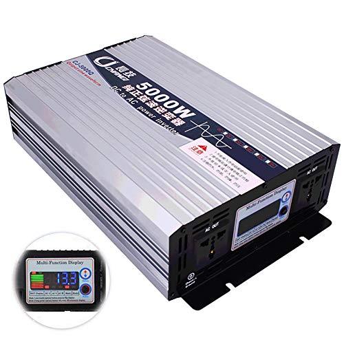 LNLN Reiner Sinus-Wechselrichter, Gleichspannungswandler, Spannungswandler, LCD-Anzeige, Mit Batteriekabel, Mehrfachschutz,72V-110V-5000W