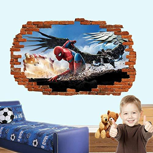 Pegatinas de pared-3D-Película héroe pegatinas de pared arte cartel mural calcomanía niños dormitorio-50x70cm