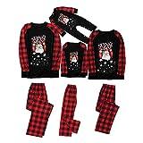 Pijamas de Navidad, a Juego con la Familia Camisetas de Manga Larga con Estampado de Santa...