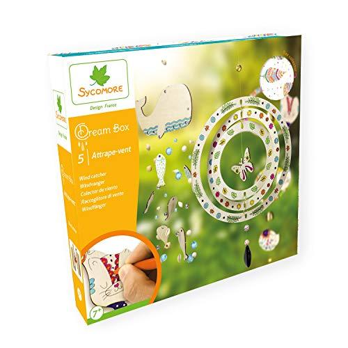 Sycomore Kreativ-Set für Kinder – Windfänger – spielt mit Holzklängen mit diesen 5 Projekten – DIY – Dream Box Collector – ab 7 Jahren CRE2083