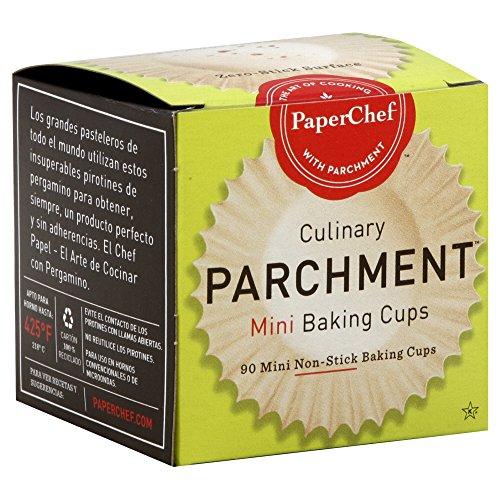 PaperChef Parchment Mini Baking Cups - 90 per Pack - 12 Packs per case.