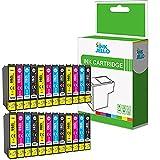 Inkjello cartuccia d' inchiostro di ricambio per Epson Stylus Office BX305F BX305FW Plus Stylus S22SX125SX130SX230SX235W SX420W SX425W SX430W SX435W SX440W SX445W T1285(B/C/M/Y, 24-pack)
