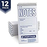 Notes Notebook Top Spiral Reporter's Size, 70 Sheets 140 Pages 4 x 8 inch | Sturdy Steno Pad Perfect Police Note Pad and Great For Lists (Narrow Ruled)