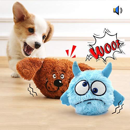 Namsan Hundespielzeug Bounce Interaktives Spielzeug für Hunde mit Zwei Attraktiven Plüschhüllen