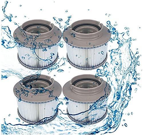 LXTOPN MSPA - Set di 4 cartucce filtranti di ricambio per piscina, per MSPA FD2089 per i salti per Bubble Spa, filtro piscina gonfiabile, confezione da 4