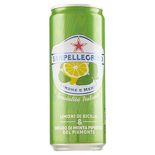Sanpellegrino Bibita Analcolica Gassata con Limoni di Sicilia e Infuso di Menta Piperita del Piemonte - 330 ml