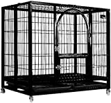 YUHT Dog Crate Dog Carrier Metal Dog Cage Pet Carrier Training Cage Black Pet Cage Dog Puppy Cage Cat Puppy Training Easy to Clean