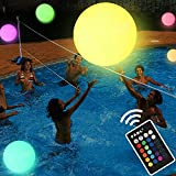 Pool Toys - LED Beach Ball with Remote Control - 16 Colors Lights and 4 Light Modes, 100ft Control Distance - Outdoor Pool Beach Party Games for Kids Adults, Pool Patio Garden Decorations (1PCS)