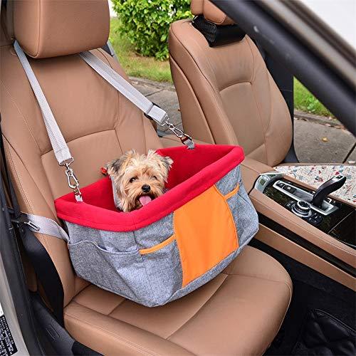 LLYU Huisdier autostoel, waterdicht en ademend huisdier hond kat stoel draagbare reisauto zitzak voor kleine honden en puppy's