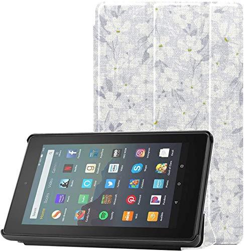Funda para Tableta Kindle Fire de 7 Pulgadas Spring Flowery Apple Flowers Fire 7 Fundas y Fundas para Tableta Fire 7 (novena generación, versión 2019) Ligera con suspensión/activación automática