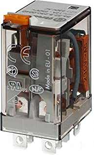 Finder 56.32.9.024.0040 DPDT 12A, 24V DC Coil, AgNi Contact, Miniature Power Relay