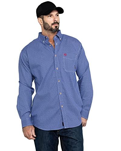 Ariat Men s Flame Resistant Liberty Work Shirt, cobalt, XXL R