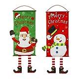 STOBOK Weihnachtsfahnen 115 x 40 cm Haus Flagge Elch Weihnachtsschneemann dekorativ Weihnachtsferien Hoftür Garten Flagge