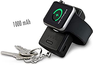 [Apple Mfi Certified] Pocket Sized Travel Friendly Wireless Magnetic Charger 1000mAh Portable Smart Key Chain for Apple Watch Series 4/ Series 3/ Series 2/ Series 1/ Nike+ Sports