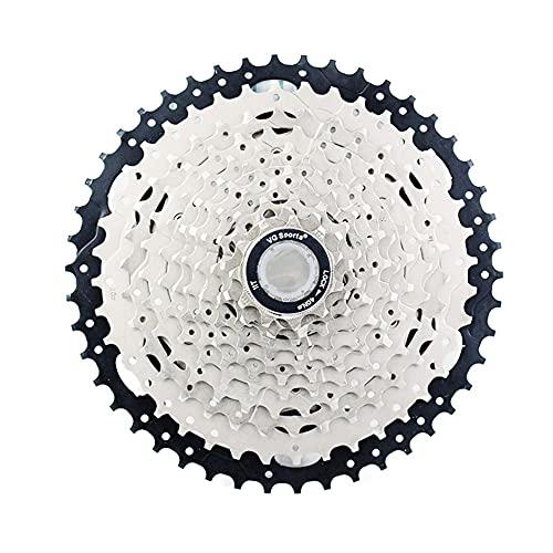 11 Índice de Velocidad 11-46T Cassette Freewheel-MTB Pieza de Bicicleta de Plata Sprocket, Adecuado para la Rueda Libre de Bicicleta Shimano/Cassette