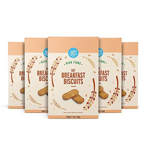 Amazon-Marke: Happy Belly - Hafer-Frühstückskekse, 5 x 300 g