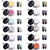 Uñas brillo en polvo brillo espejo mágico efecto cromado arte de uñas en polvo /12 colores 2g