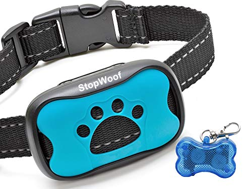 StopWoof Dog Bark Collar - Humane Care Modes, Vibration & Sound - No Shock Training Device For...