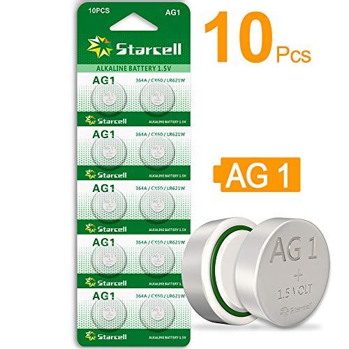 Starcell Knopfzelle SR621SW AG1 364 363 LR621, 1,55 V, 10 Stück