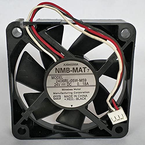 2406RL-05W-M59 DC24V 0.18A 60x60x15mm Server Cooling Fan