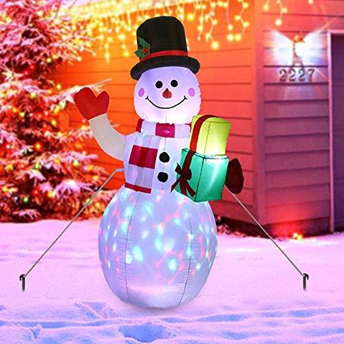 bonhomme de neige gonflable auchan