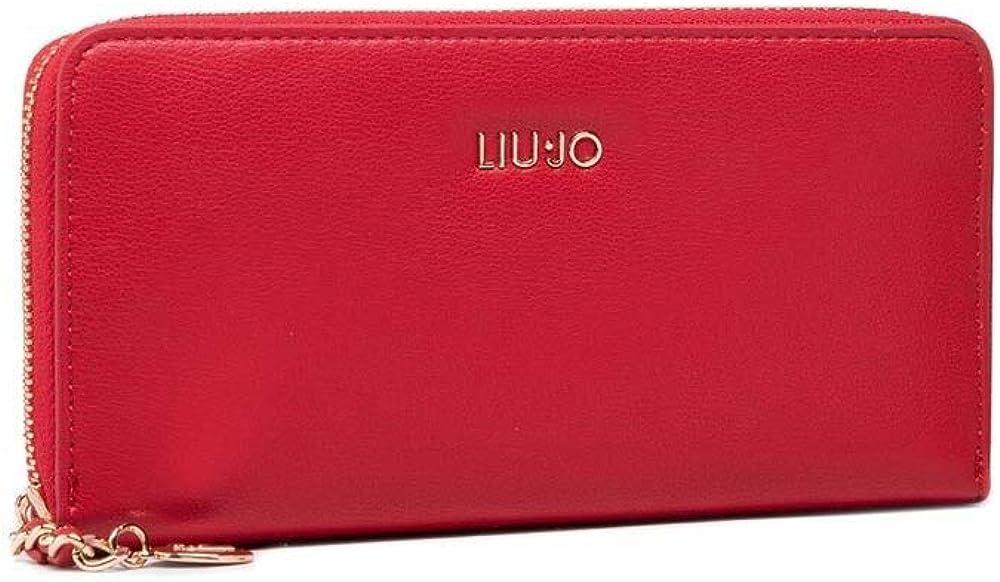 Liu.jo zip around xl portafogli, porta carte di credito da donna, in pelle sintetica AA1082E0040