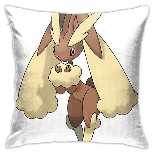 Eqiaoqukeq Lopunny,Square Throw Pillowcases,for Couch Sofa Home Decoration,W19.68 x H19.68