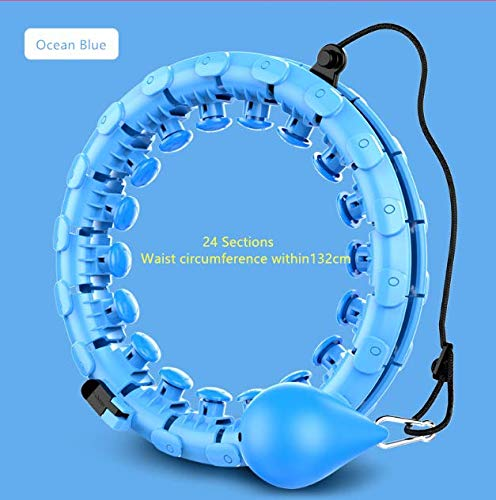 UK-Stock-Smart-Hula-Rings-Hoops-for-Adults-Weight-Loss-Weighted-Hoop-for-Exercise-and-Fitness-24-Detachable-Knots-Adjustable-Weight-Auto-Spinning-Ball2-in-1-Abdomen-FitnessHome-WorkoutWeight-LossKeep-