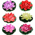 Lightingsky Artificial Floating Foam Lotus Flower Pond Decor Water Lily