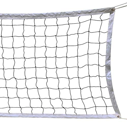 Red de Voleibol Profesional Red de Vóley Playa Portatil con Borde de Acero Cable de Acero, Tamaño Estándar Oficial para Interiores, Exteriores, Piscina, Equipo Deportes Profesionales