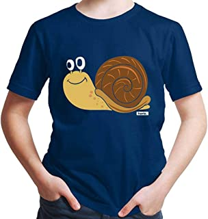Hariz - Camiseta de manga corta para niño, diseño de caracol