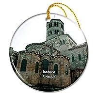 Issoire フランスサン・オーストレモイン修道院クリスマスオーナメントセラミックシート旅行お土産ギフト