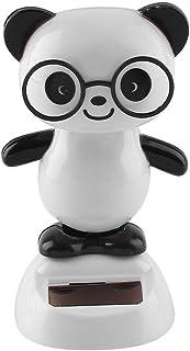 Sedeta panda Model Car Decor Solar Powered Dancing Animal Doll Swing Animated Bobble Dancer Toy vehile gift