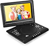 'Lecteur de dVD port ¨ ¢ Til de 9.5avec écran rotatif, compatible avec cartes SD et USB, reproducci ¨ ® n Direct sur les formats MP4/AVI/RMVB/MP3/JPEG