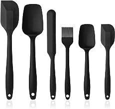 Vicloon siliconen gebruiksvoorwerpen, set van 6 siliconen kookset inclusief borstel, lepel, spatel, antiaanbaklaag en hitt...