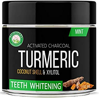 The !st and Most Effective Turmeric Teeth Whitening Formula on the Market made with Organic and Natural Ingredients in USA NON GMO and Vegan To Brighten your Teeth and Your Smile (mint), Compare,