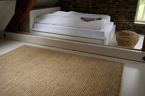 Tappeto Moderno Naturale Juta beige naturale 200x290cm - tappeto tessuto a mano di 100% fibra naturale