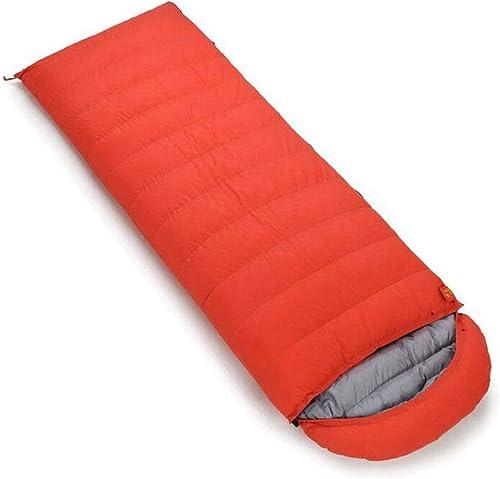 JBHURF Sac de Couchage pour Camping en Plein air Sac de Couchage à Compression Portable pour Sac de Couchage Double (Capacité   1.8kg, Couleur   Orange)