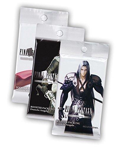 Final Fantasy Sammelkartenspiel Welcome Geschenk Set - 3x Booster Pack (Opus 1 Opus 2 und Opus 3) - Deutsche Ausgabe