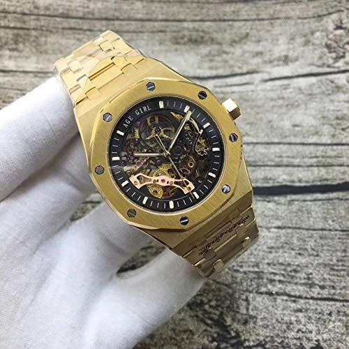 GFDSA Automatische horloges Luxe merk Automatisch mechanisch herenhorloge Zilver Zwart Saffierglas Transparant skelet Gouden Tourbillon-horloges